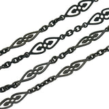 Georgian Gunmetal Fancy Link Chain 60