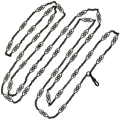 Georgian Gunmetal Fancy Link Chain 60""