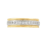 OSCAR HEYMAN Estate 18kt/Platinum 2-Tone Diamond Band 0.30ctw