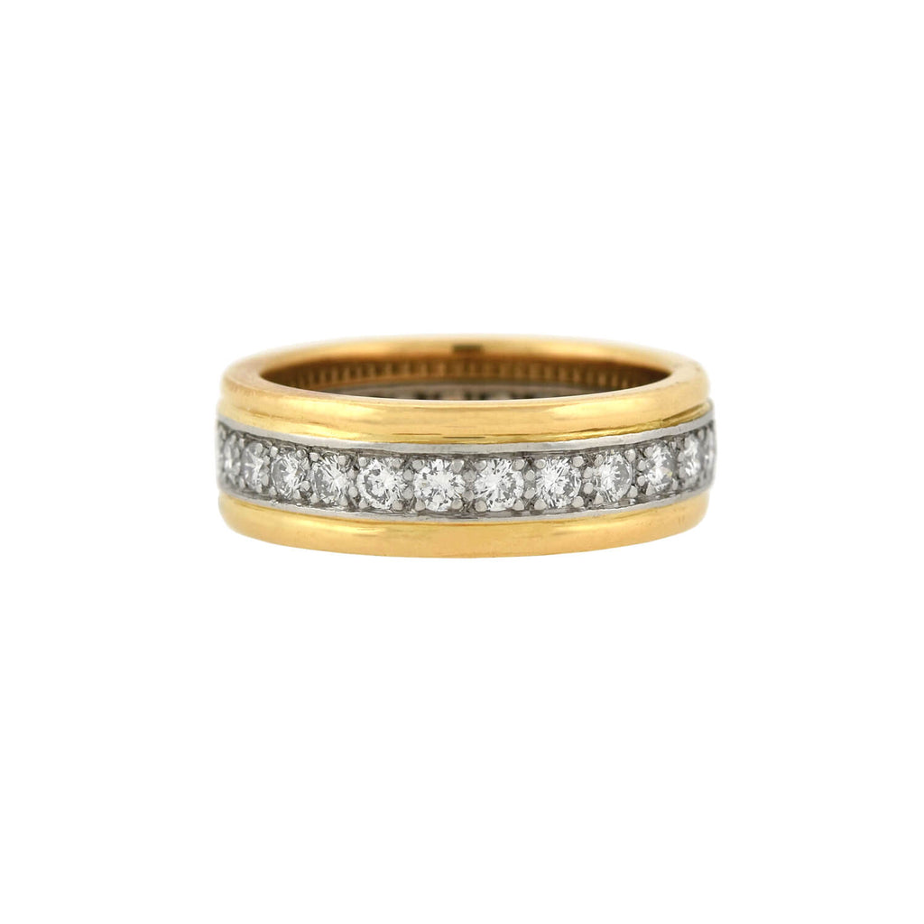 OSCAR HEYMAN Estate 18kt/Platinum 2-Tone Diamond Band