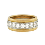 OSCAR HEYMAN Estate 18kt/Platinum 2-Tone Diamond Band 2.75ctw