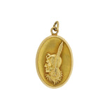 Late Art Deco 14kt Yellow Gold Native American Chief Pendant