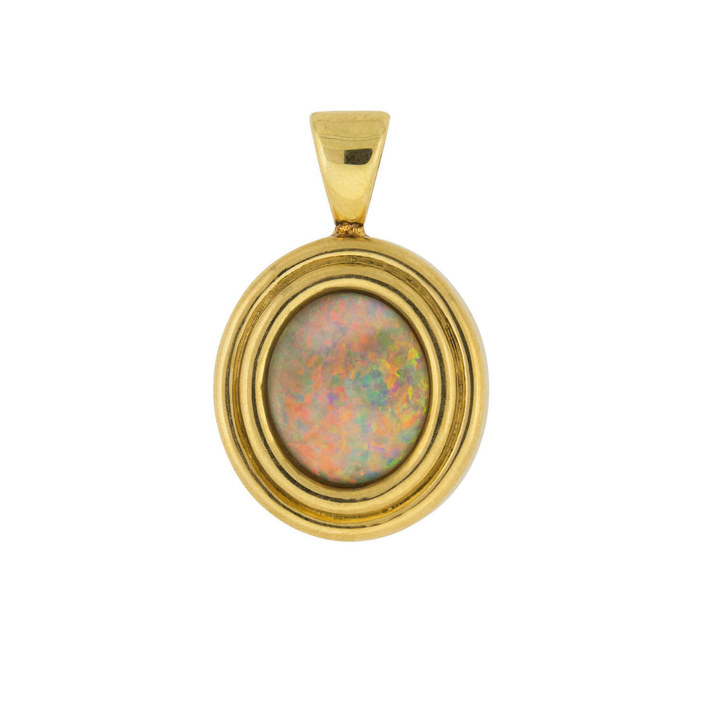 Vintage 18kt Yellow Gold + Opal Pendant 8.00ct