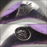 ANTONIO PINEDA Vintage Sterling & Amethyst Ring