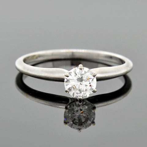 Estate 14kt Diamond Solitaire Engagement Ring 0.50ct