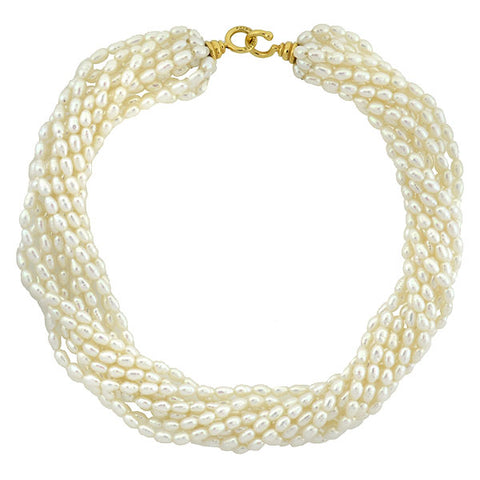 PALOMA PICASSO for TIFFANY & CO. 18kt Natural Pearl 10-Strand Necklace