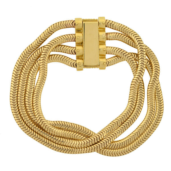 PALOMA PICASSO for TIFFANY 18kt Snake Chain Bracelet 32.6 dwt