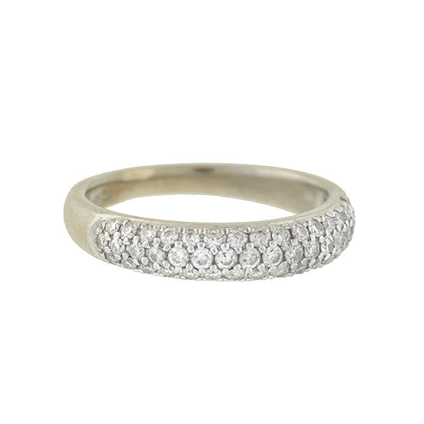 Estate 14kt Pavé Diamond Half Band .50ctw
