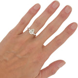 Retro Platinum Pear Cut Diamond Engagement Ring 2.00ct