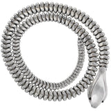 ELSA PERETTI for TIFFANY Rare Sterling Silver Heavy Snake Belt/Necklace