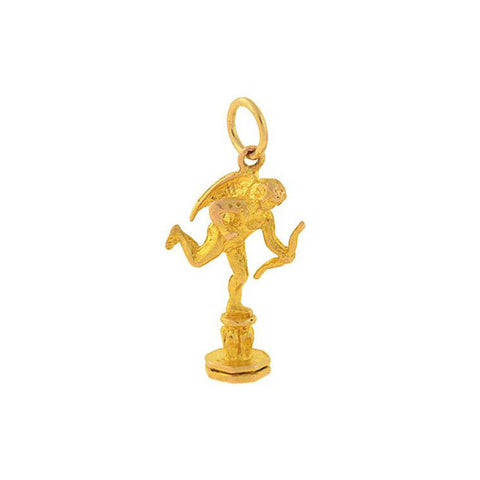 "Estate Petite 14kt Gold ""Cupid"" Cherub/Angel Charm"