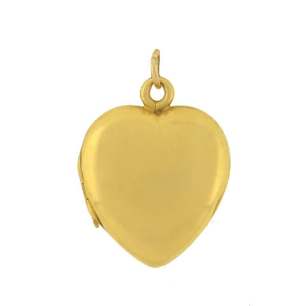 Victorian 18kt Smooth Gold Heart Locket