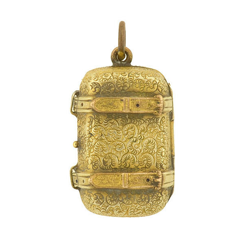 Victorian Pinchbeck Luggage Locket