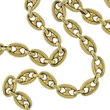 Victorian Silver Gilt Anchor Link Chain Necklace 18
