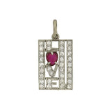 Art Deco Platinum Ruby & Diamond