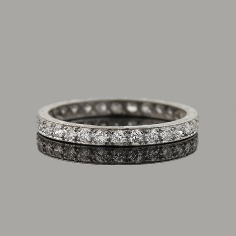 Art Deco Platinum Diamond Eternity Band 0.50ctw