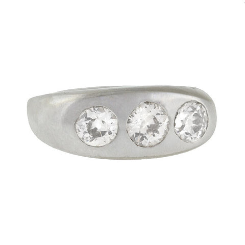 Edwardian Platinum Diamond Gypsy Ring 1.50ctw