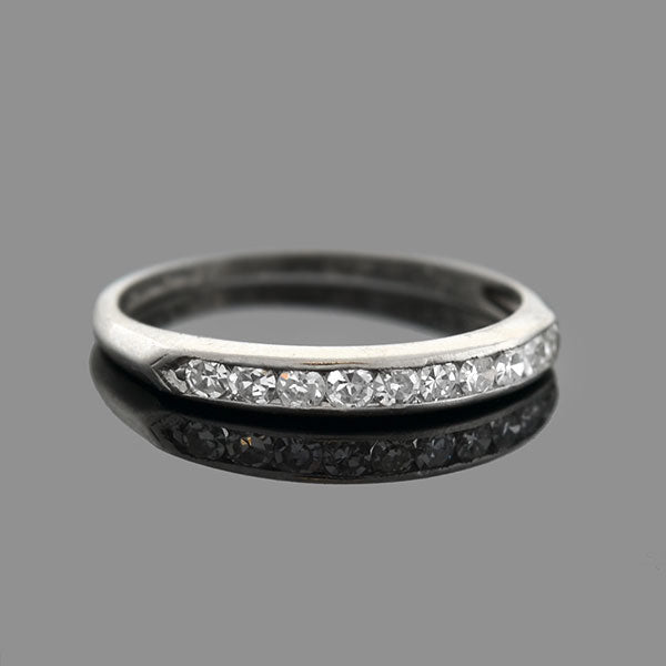 Art Deco Platinum Diamond Half Band