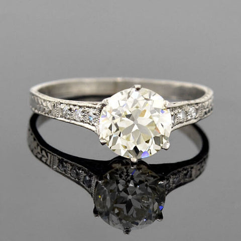 Art Deco 18kt Diamond Engagement Ring .26ct