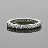 Vintage Platinum Diamond Eternity Band 1.00ctw