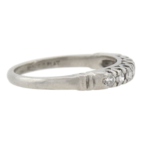Retro Platinum Diamond Half Band 0.35ctw