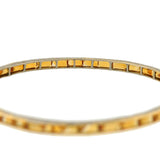 Art Deco Platinum Topped 14kt Citrine Bangle Bracelet