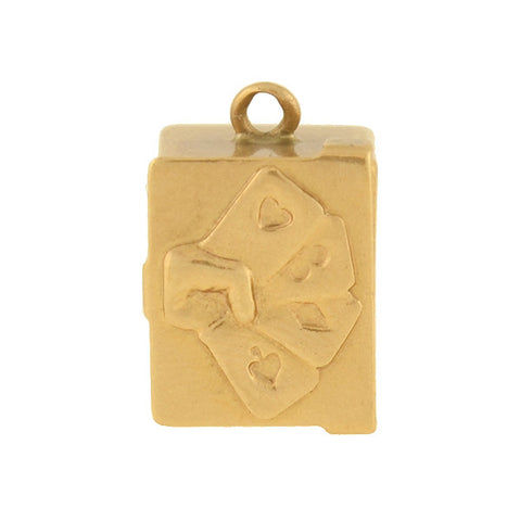 Retro 14kt Yellow Gold Jade Vinaigrette Charm/Pendant