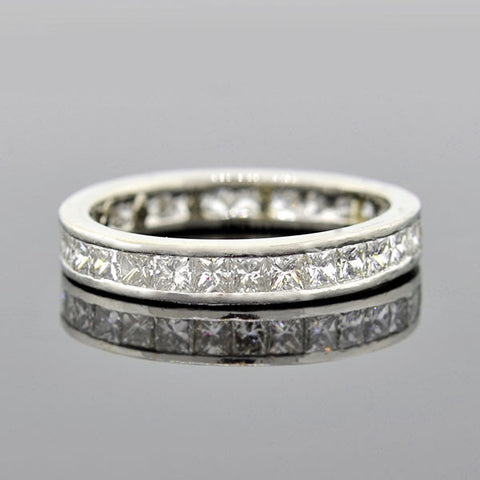 Estate Platinum Princess Cut Diamond Eternity Band 2.00ctw