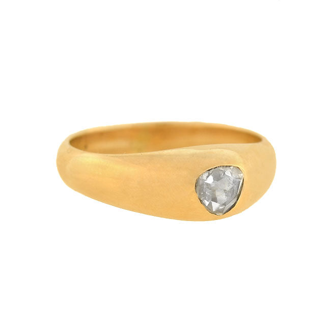 Victorian 14kt Solitaire Rose Cut Diamond Ring 0.45ct