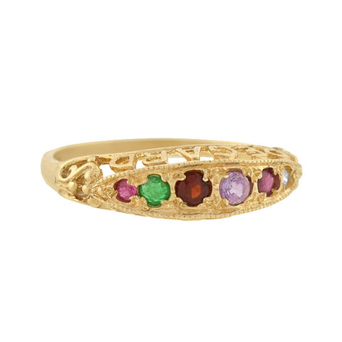 "Edwardian 9kt Multi Gemstone ""REGARD"" Acrostic Ring"