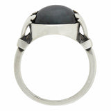 GEORG JENSEN Vintage Sterling Silver Hematite Ring no. 51