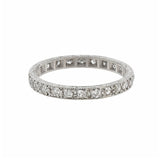 Art Deco Platinum Diamond Eternity Band 0.40ctw