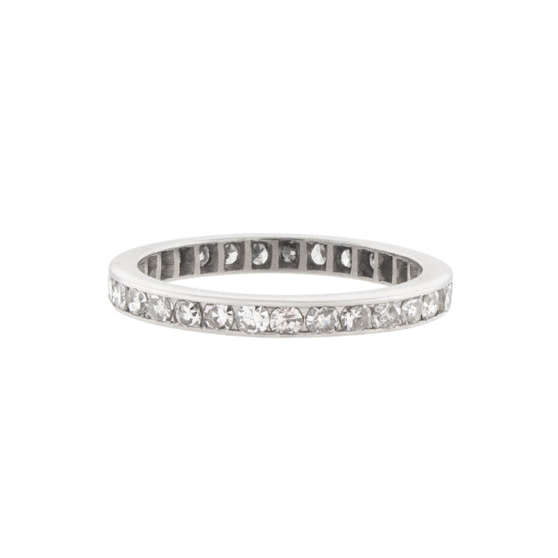 TIFFANY & CO. Platinum & Diamond Eternity Band .50ctw