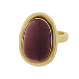 Victorian 14kt Large Cabochon Garnet Conversion Ring