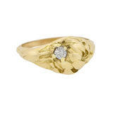LARTER & SONS Art Nouveau 14kt Diamond Figural Flower Ring