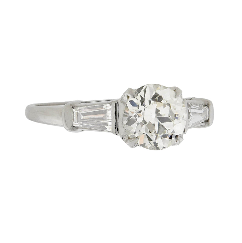 Art Deco Platinum Diamond Engagement Ring 0.82ct
