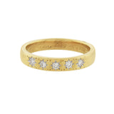 Edwardian 18kt Diamond Band Ring with Starburst Motif 0.10ctw