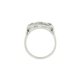 Edwardian Platinum 3-Stone Diamond Filigree Ring 1.75ctw