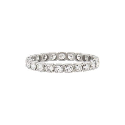 Late Art Deco Platinum Diamond Eternity Band 0.75ctw