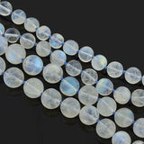 Estate Rainbow Moonstone Bead Necklace with 14kt Clasp