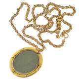 Late Victorian 14kt Diamond Pearl Enameled Locket Necklace