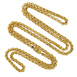 Victorian Gold Filled Textured Link Chain Necklace 37