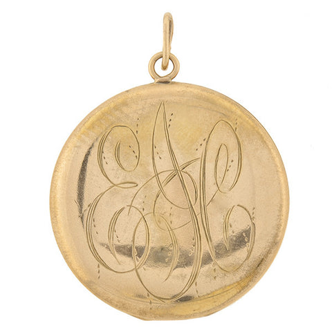 Art Nouveau Gold Filled & French Paste Repousse Locket