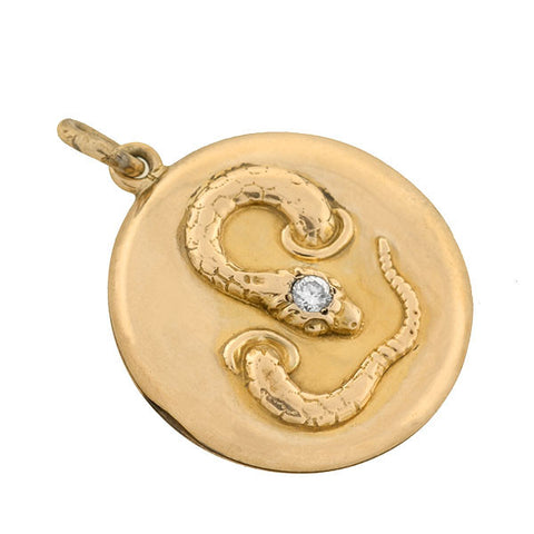 Late Victorian 14kt Diamond Snake Locket