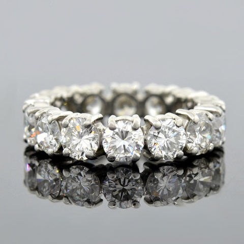 Retro Platinum Diamond Eternity Band 5.50ctw