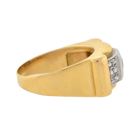 Retro 14kt & Platinum 2-Tone Diamond Ring