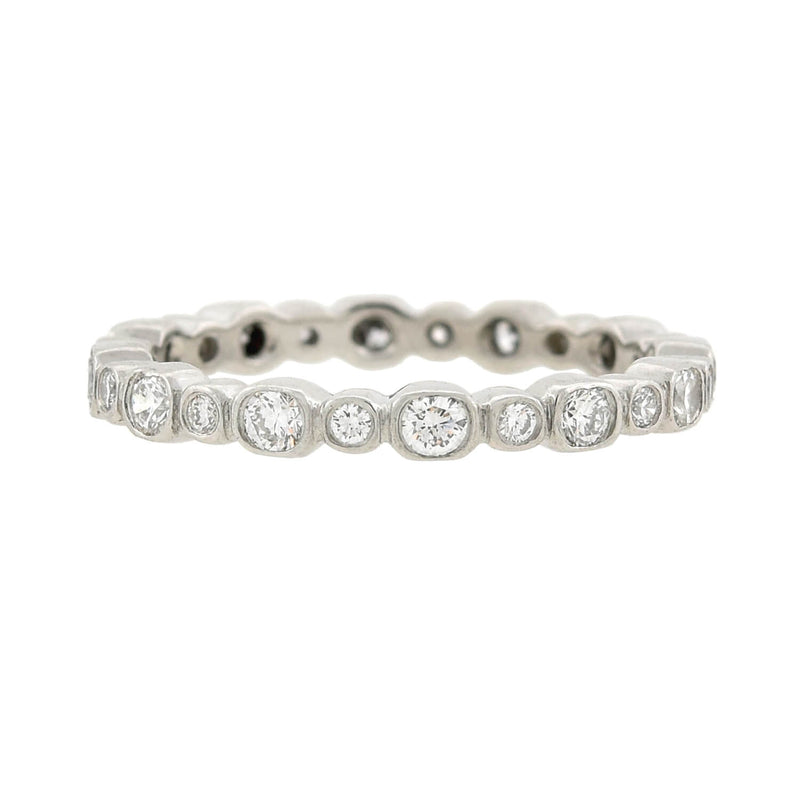 Vintage Platinum Marquise + Baguette Diamond Eternity Band 4.75ctw