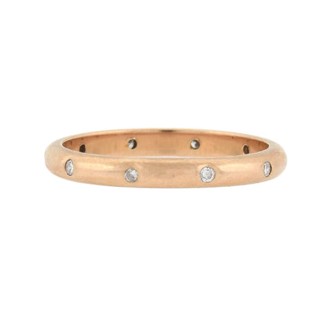 Retro 14kt Rose Gold Diamond Eternity Band 0.10ctw