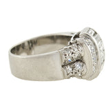 Retro Platinum Diamond Cocktail Ring 1.40ctw