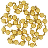 Retro French 18kt Yellow Gold Large Bead Necklace 36